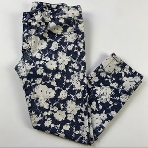 Tory Burch Alexa Cropped Skinny Floral Jeans 28